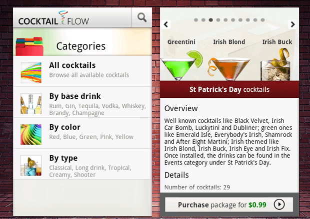 COCKTAIL FLOW android app