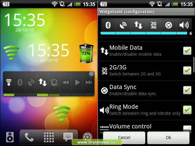 """Widgetsoid  an app offering many home screen """"widgets"""" for the Android operating system"""