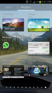 Place widgets for your favorite apps