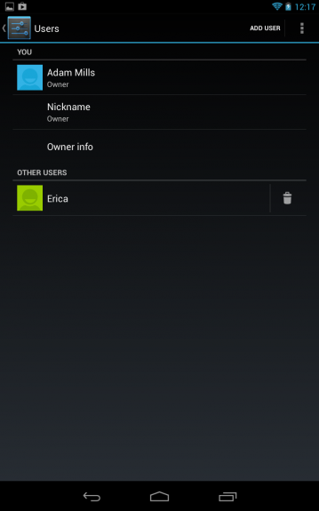 jelly bean's multiple users feature