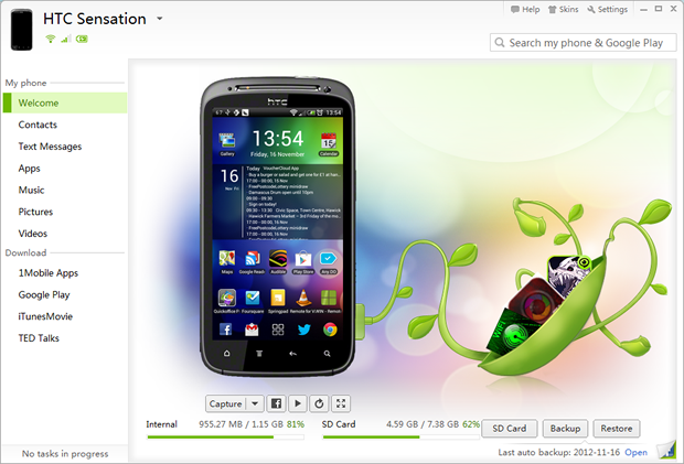 Easily manage Android from your PC