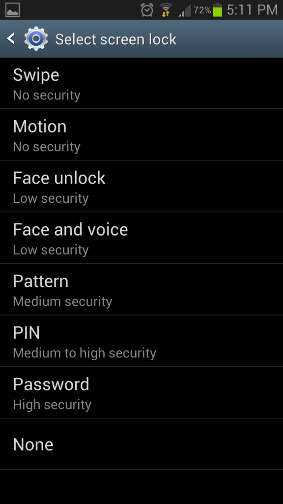 Remove Your Android Lockscreen