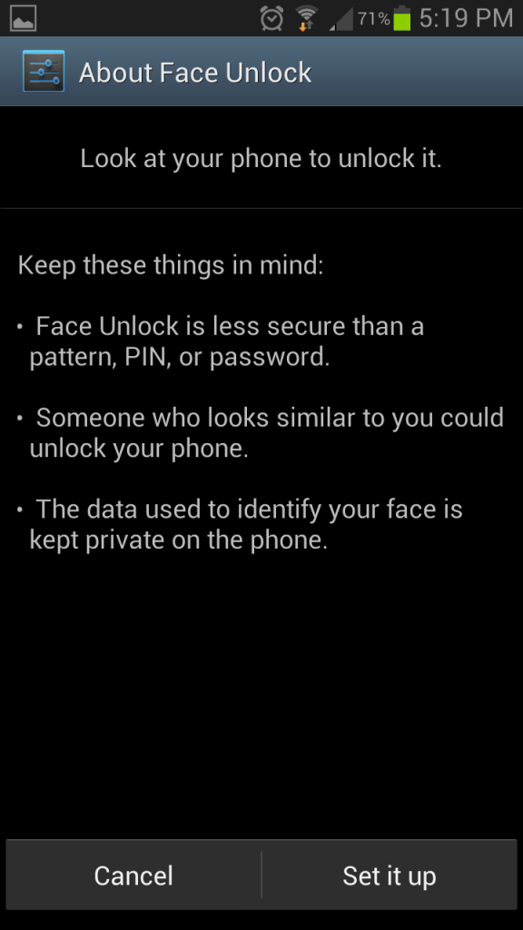 Add Multiple Faces to your Android Lockscreen