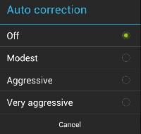 autocorrect edit menu