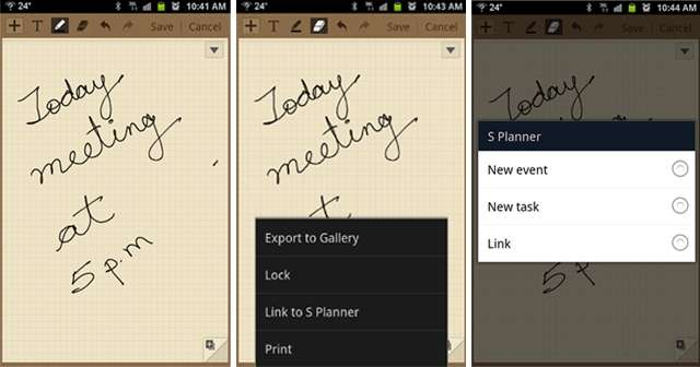 Use S Memo Lite to copy quick notes