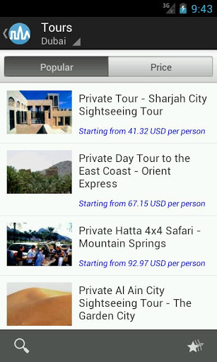 Triposo covers popular tourist locations throughout the world