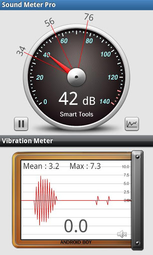 app is developed to measure sound pressure level