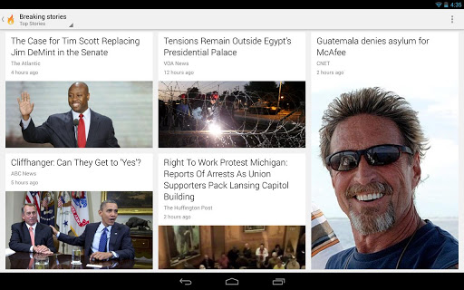 google currents news reader