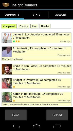 insight timer social network