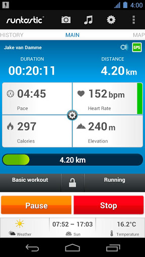 Runtastic measures the duration you have run for