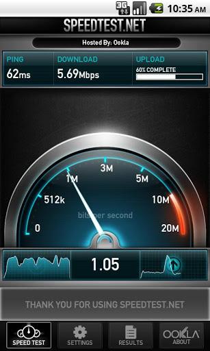 speedtest.net test