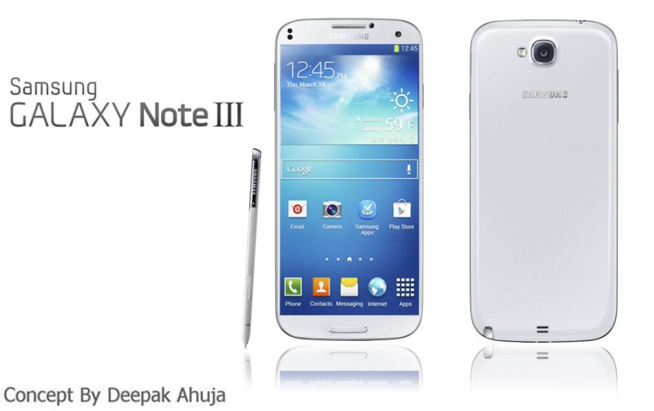 Samsung Galaxy Note 3 Will Be Released in September 2013 With 1080p 5.9-Inch Screen