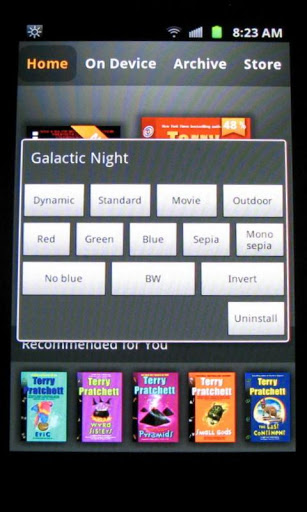 Galactic night android