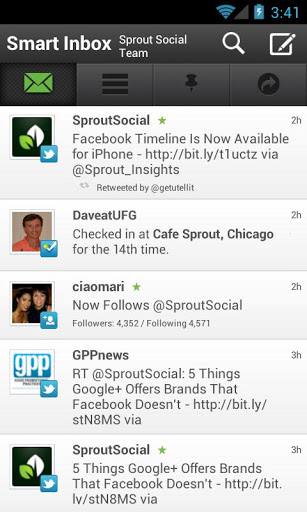 sprout social feed