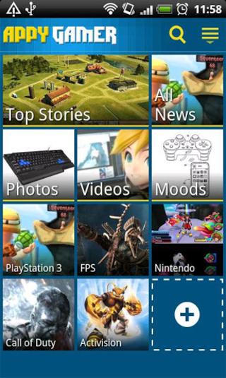 appy gamer menu