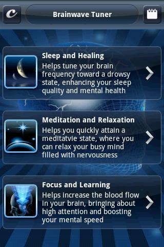 brainwave tuner menu