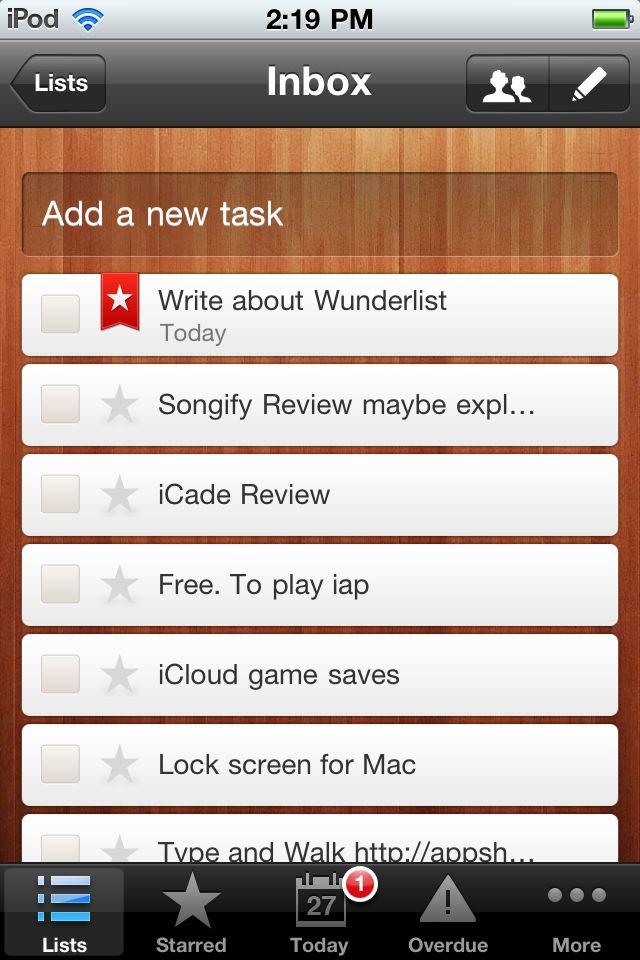 wunderlist to-do app