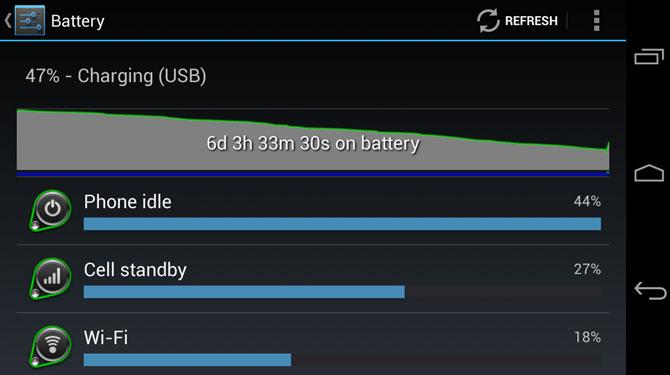 battery life percentage