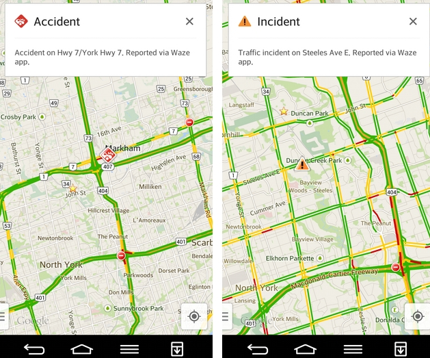 Google Adds Real-Time Traffic Reports to Maps