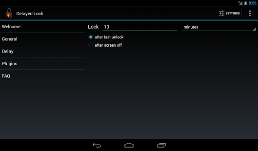 delayed lock app android