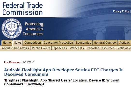 ftc brightest flashlight app