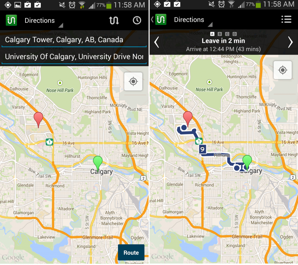 transit app android canada