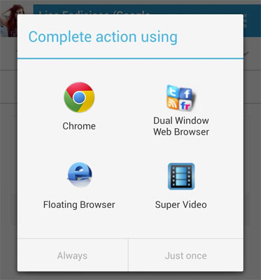how to change the default apps?
