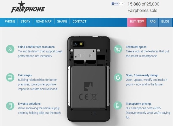 fairphone technical specs