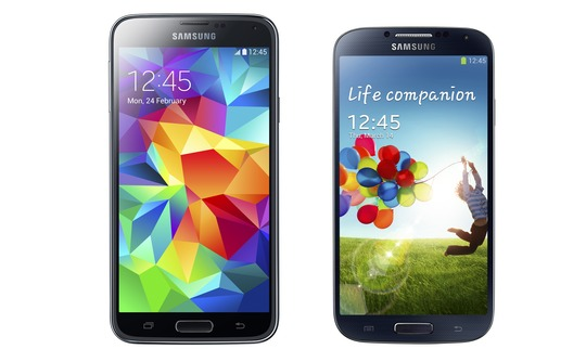 Samsung Galaxy S5 Versus Samsung Galaxy S4