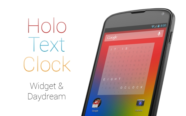 Change the Way You See Time With Holo Text Clock