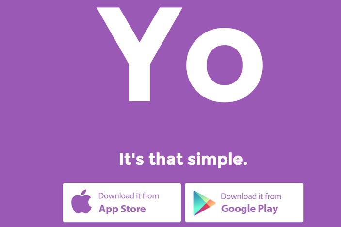 """Yo App Lets You Send """"Yo"""" to Your Friends And That's It"""