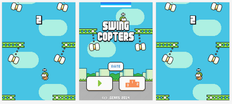 """Flappy Bird Creator Releases New """"Swing Copters"""" Game"""