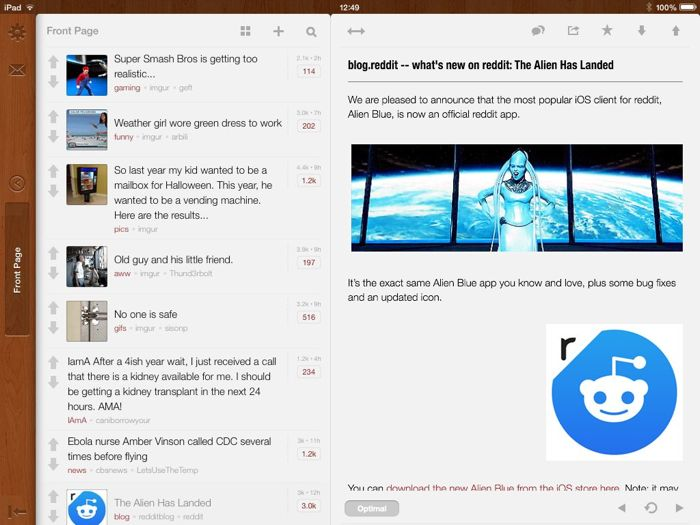 Official Reddit App Released on iOS – When Will Android Users Get Alien Blue?