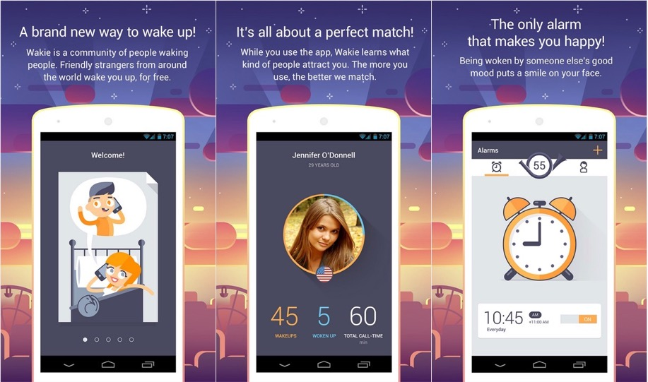 """Meet Wakie, the """"Social Alarm Clock"""" Where Real People Wake You Up"""