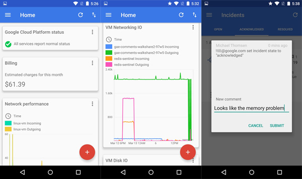 Google Makes Google Cloud Console Available for Android and iOS