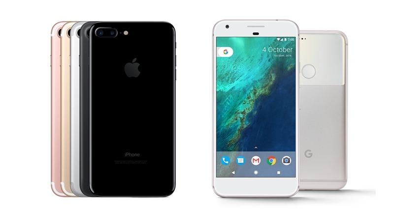 Google Pixel XL Versus iPhone 7 Plus