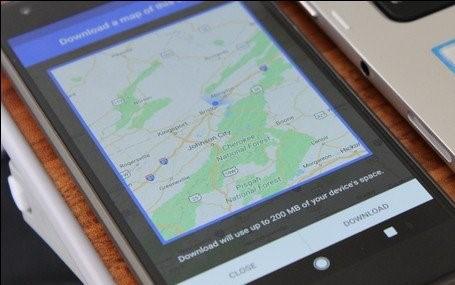 Downloading Google Maps for Offline Navigation on Android