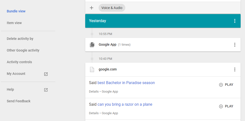 """Google Stores Audio Files of All Your """"OK Google"""" Requests – and You Can Listen to Them Online"""