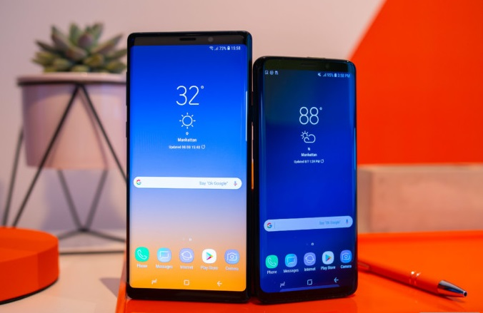 Samsung Galaxy Note9 and S9