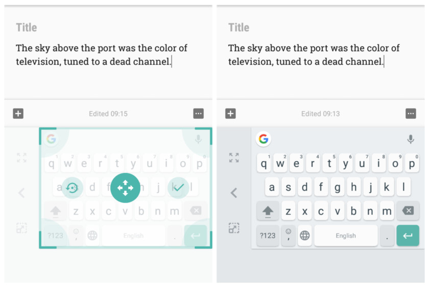 New floating Gboard keyboard – a multitasking wonder!