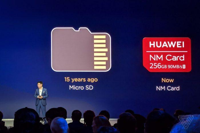 """Huawei Mate 20 uses new """"Nano Memory"""" instead of MicroSD"""