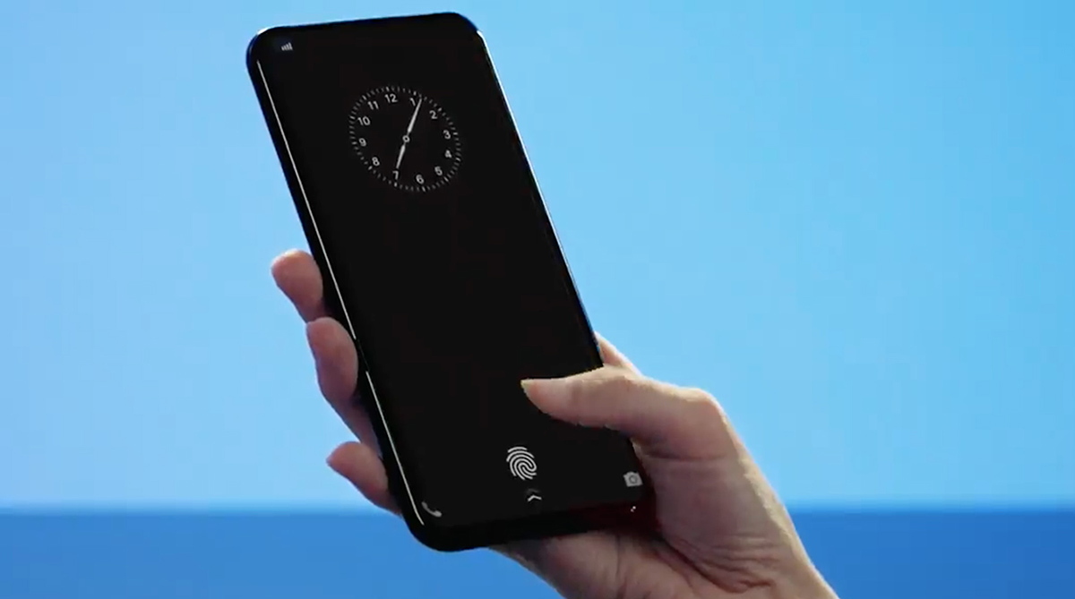 This is how the ultrasonic fingerprint scanner, found in Samsung Galaxy S10, works